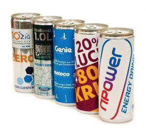 Energy Drinks - Branded Personalised
